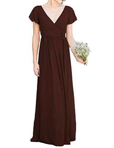 Mother of The Bride Dress Evening Formal Dress Bridesmaid Dresses Maroon 20W]()