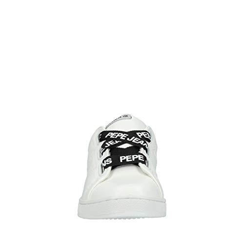 Blanc pour Femme Chaussure Pepe Jeans Brompton Laces ncYqCv