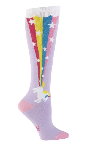 Sock it to Me Women's Rainbow Blast Knee High Socks, women's shoe size 5-10