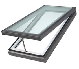 Price comparison product image VELUX 22-1 / 2 x 34-1 / 2 in. Solar Powered Fresh Air Venting Curb-Mount Skylight with Laminated LowE3 Glass