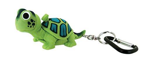 Sun Company WildLight Animal Carabiner Flashlight - Green Turtle   Mini Animal Keychain Flash Lights for Kids, Nurses, Camping