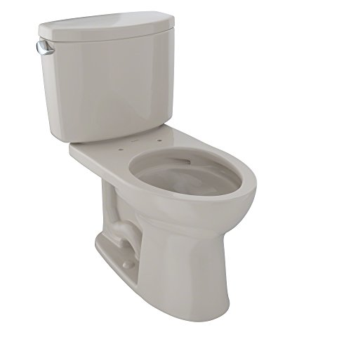 - TOTO CST454CEFG#03 Drake II 2-Piece Toilet with Elongated Bowl and Sanagloss, Bone