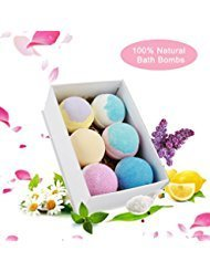 Codream Bath Bombs Gift Set - 6 Piece Bath Bomb Kit - Add to Bath Bubbles, Basket - Perfect Gift for Women and Men