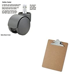 KITMAS65535UNV40304 - Value Kit - Master Caster Safety Casters (MAS65535) and Universal 40304 Letter Size Clipboards (UNV40304)