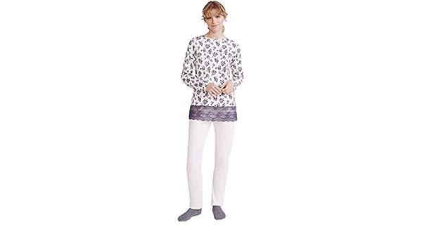 PROMISE Pijama de Mujer de algodón N06142 - Rosa, XL: Amazon.es: Ropa y accesorios