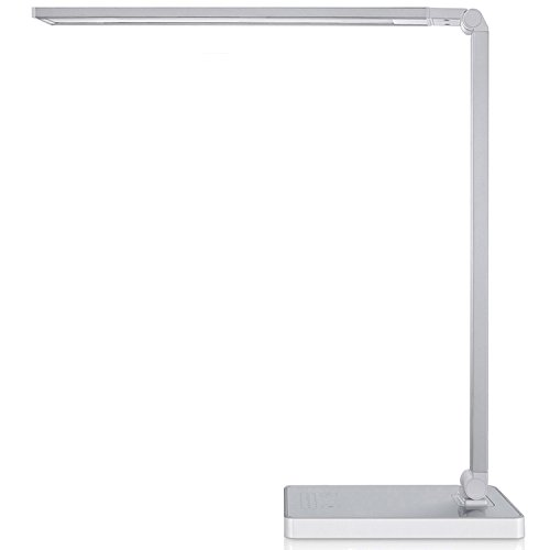 Phive Dimmable LED Desk Lamp With Fast Charging USB Port Touch Control 8 Level Dimmer 4 Lighting Modes Aluminum Body Eye Care Table For
