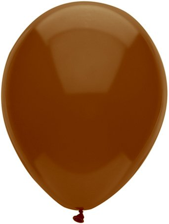 PartyMate 82227 Solid color Latex Balloons, 15-Count, Chestnut Brown]()