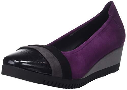 Negro Viola Punta Sabrinas 018 Quebec Chiusa Ballerine Purpura Donna Gris x66qYv7aHw