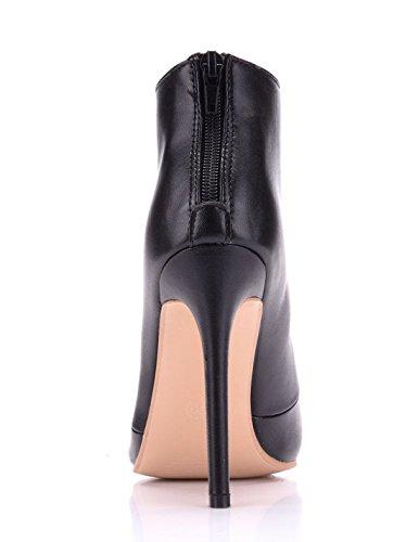 Pointed Boots MGM Party Formal Prom Ladies Zip Toe Women's Bridal Heel Dress Joymod Stiletto Wedding Classic Black Bridesmaid qAaACEw