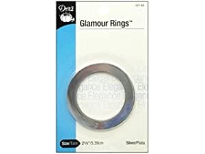 Dritz Glamour Rings O 2 1/8 Polished Silver 2 pc