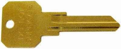 Kwikset KW1 6 PIN DO NOT DUPLICATE Brass Key Blanks - Box of 50 (Pack of 50)