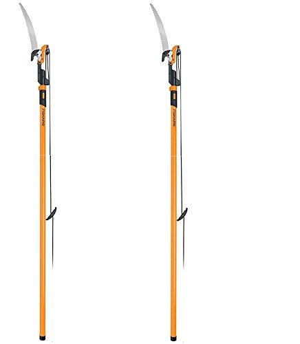 Fiskars Power-Lever Extendable Pole Saw & Pruner (7–14 Feet) - 2 Packs by Fiskars Org