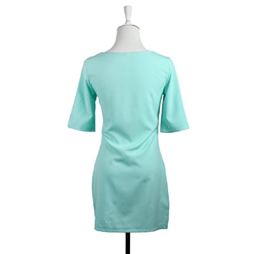 Hot Clothes Fashion Lady Women Anboo New Dress Green Loose Mint Sleeve Half 15qS6