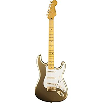Squier 60th Anniversary Classic Vibe Strat-Aztec Gold Solid-Body Electric Guitar