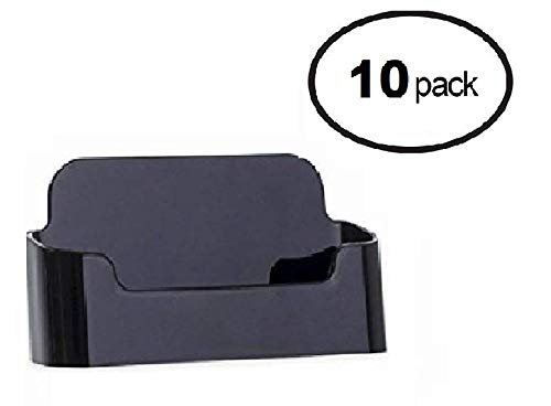 - Deflecto Business Card Holders Single Compartment (BLACK 10 PACK)