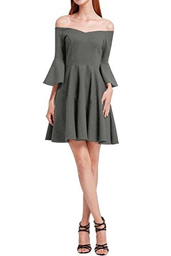 Ivydressing A U Promkleid Chiffon Festkleid Modern Grau Damen ...