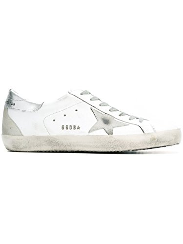 Golden Goose Sneakers Uomo GCOMS590W77 Pelle Argento/Bianco