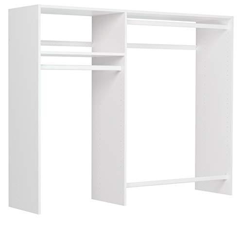 3'-5' W Basic Hanging Kit Closet Storage White