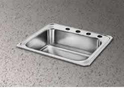 Elkay Single Basin - Elkay CR31220 Gourmet Single Basin Drop-In Stainless Steel Kitchen Sink, 22-Inch x 31-Inch
