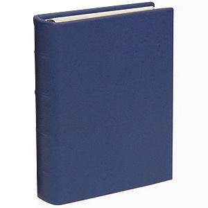Traditional Navy Leather 2-up Clear Pocket 4-ring Album by Graphic Image - 4x6 by Graphic Image