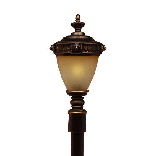 (Triarch 75536-14 3 Light Lion Post Mount Light, Oil-Rubbed Bronze)