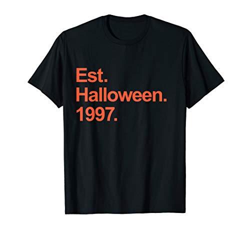 Est Halloween 1997 Birthday Gift T-Shirt]()