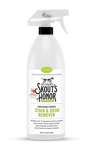 Skout's Honor Professional Strength, All-Natural Pet Stain & Odor Remover - Non-Toxic, Biodegradable, and Eco-Friendly - Destroys Stinky Odor Molecules On Contact - 35-OZ Spray Bottle - incensecentral.us