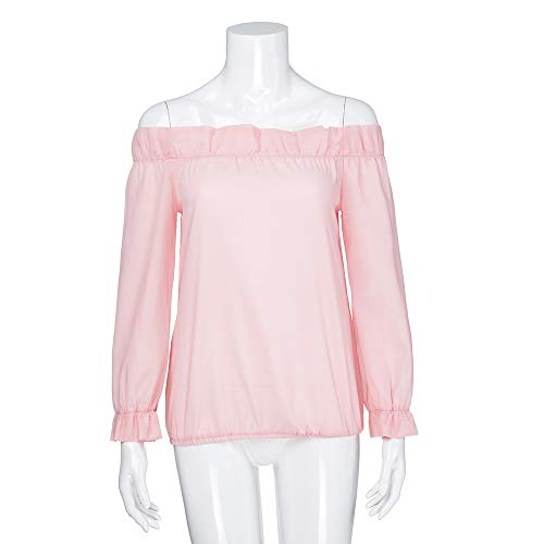 Shirt Chaud Manches Rose Pullover Femme Blouse Subfamily Longues dnudes T Longues Haut Hiver weatshirt paules Manches ZEqYfqw