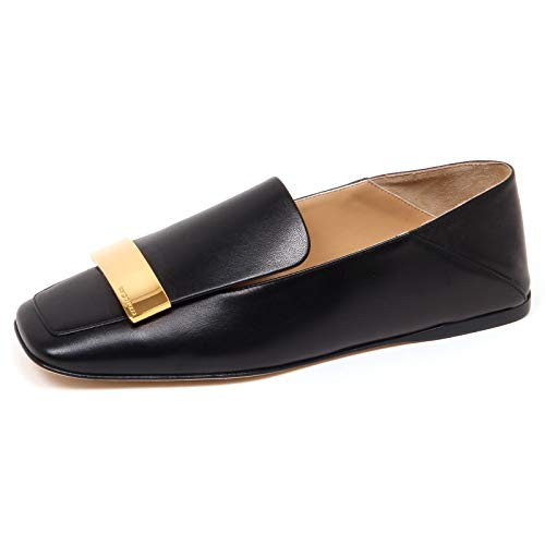 Sergio Donna Loafer Mocassino Shoe F0966 Scarpe Nero Black Rossi Woman av4aqwH