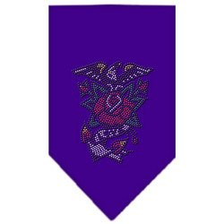 Eagle Rose Rhinestone Bandana Purple Small by uhsupply.com