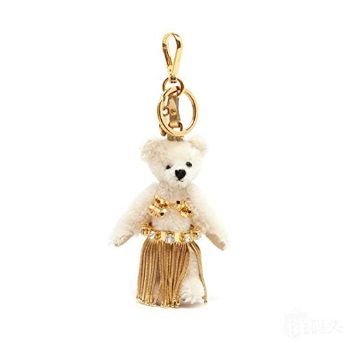 Prada Leia White Jeweled Hula Skirt Teddy Bear Key-chain Bag Charm 1TO034