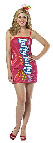 Girl's Laffy Taffy Cherry Tank Dress Funny Theme Halloween Teen Costume, Teen (13-16) ()