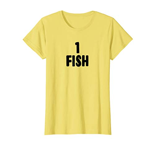 Womens One Fish Halloween Costume T-shirt for Groups