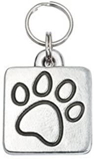 product image for Cafe La Pooch Square Pet Id Tag - Paw Print