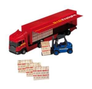 Happy People 34130 Scania - Camión semirremolque en miniatura con accesorios (escala 1:48)