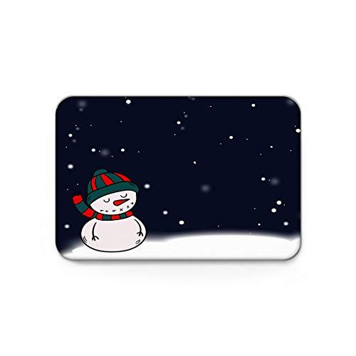 Trapper Mohawk Hat - Gsypo Indoor Doormat Front Door Entry Way Snowman Wearing Knitted Hat Door Mats Shoes Scraper Dirt Debris Mud Trapper Patio Rugs Low Profile Washable Carpet 20