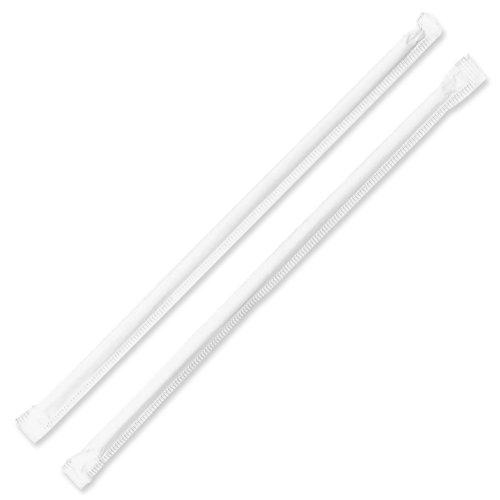 Genuine Joe Jumbo Translucent Straight Straws