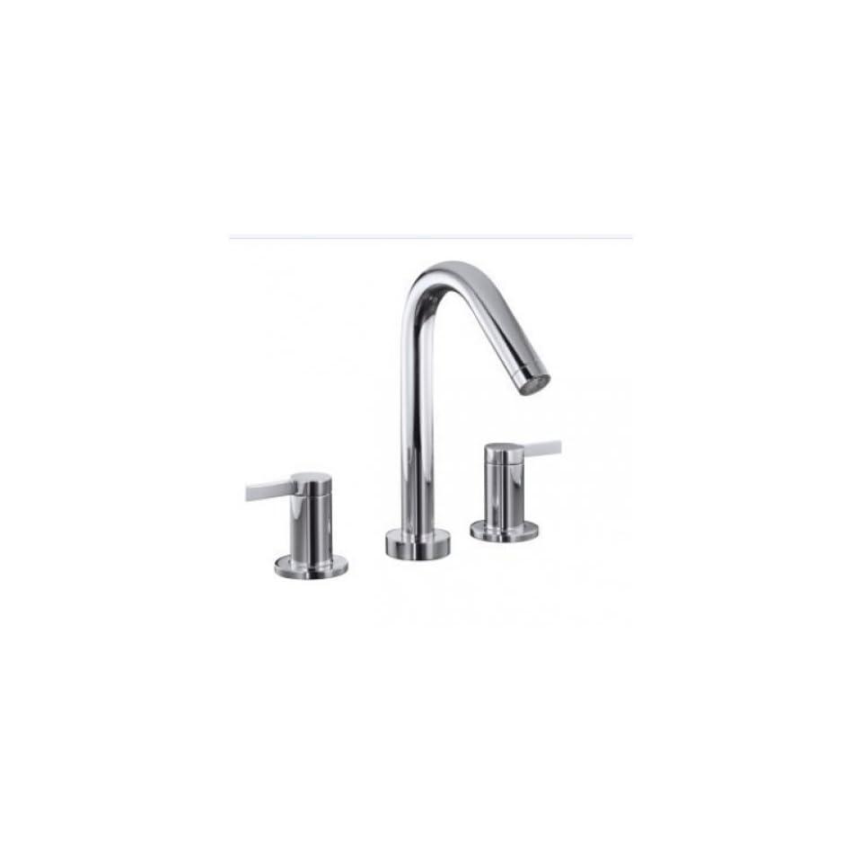KOHLER K T954 4 CP Stillness Deck Mount High Flow Bath Faucet Trim, Polished Chrome   Bathtub Faucets