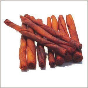 Wholesome Hide Beef Hide Beef Basted Twists - 5 inches long - 1/2 inch across - bag of 10
