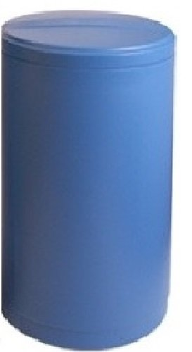 Water softener salt tank brine tank inches with safety float (18x40 Inches Round, Blue) by DuraWater