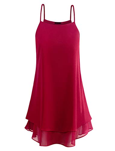 Business Casual Womens Dressy Blouses and Tops Tunics to Wear with Leggings Wine XXL