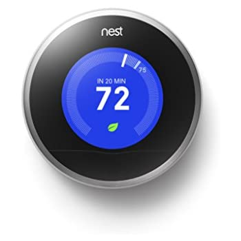 Nest learning thermostat easy temperature control for every room in your house stainless steel - Nest thermostat stylish home temperature control ...