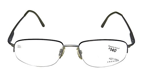 [Jaguar 3342 Mens Designer Half-rim Eyeglasses/Glasses (54-17-140, Gray)] (Third Leg Costume)