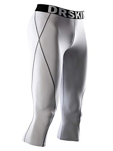 DRSKIN] Tight 3/4 Compression Pants Base Layer Running Pants Men (M, WG806)