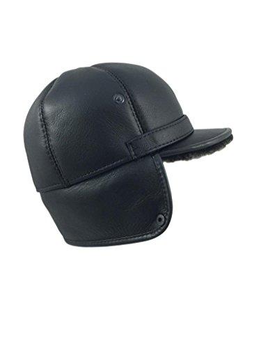 Zavelio Men s Shearling Sheepskin Elmer Fudd Pilot Visor Hat - Import ... 16207c303be8