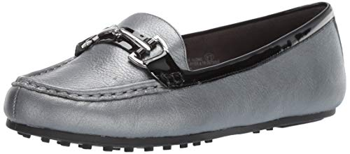 Aerosoles Women's Drive Along Loafer, Silver Combo, 8.5 W -