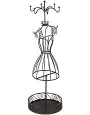 Maniquí, lleva joyas, expositor a joyas - Original y Elegante - Color GRIS