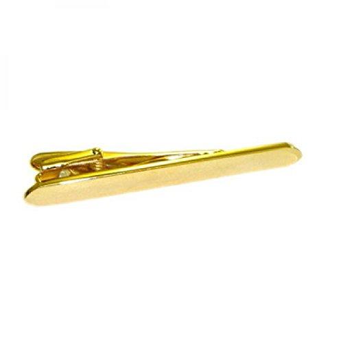 Pince à cravate plaqué or avec coins arrondis dans une boîte-cadeau (XT28)