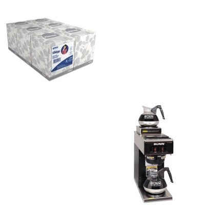 KITBUNVP172BLKKIM21271 - Value Kit - Bunn Coffee 12-Cup Two-Station Commercial Pour-O-Matic Coffee Brewer (BUNVP172BLK) and KIMBERLY CLARK KLEENEX White Facial Tissue (KIM21271)