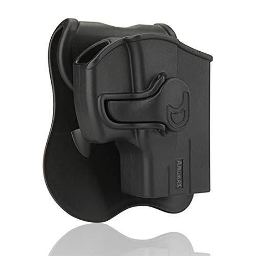XSHION Taurus G2C Holsters, OWB Holster for Taurus Millennium G2 PT111 PT132 PT138 PT140 PT145 PT745(No Pro),Outside The Waistband Carry Holster with 360° Adjustable Paddle -Right-Handed Black